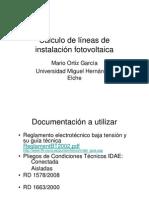 Dimensionado Lc3adneas Fotovoltaicas MUY BUENO
