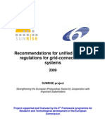 Recommendations for Unified Technical Regulations for Grid-connected PV Systems Public