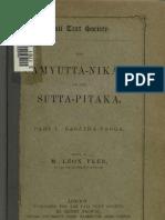 Feer Samyutta Nikaya Part1 1884
