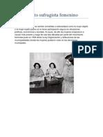 Mov sufragista femenino chileno años 30