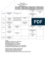 Final Time Table-MBA II-Summer 2013