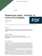 Rhétorique arabe_ Aristote, le Coran et la balagha