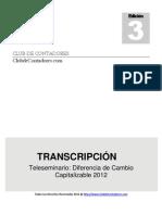 20130124 Ruben Del Rosario Diferencias de Cambio