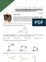 8 Lista de Exercicios Complementar de Matematica Angulos e Operacoes Com Medidas de Angulos Professora Michelle 7 Ano B Unidade II