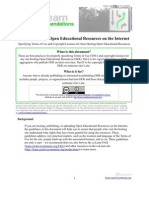 CcLearn Recommendations - Publishing Your OER on the Internet 05 Apr 09