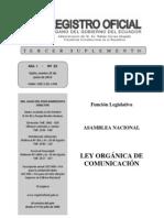 Ley Orgánica de Comunicación  de Ecuador -registro oficial, 2013.pdf
