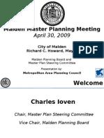 Malden Master Planning Workshop April 30