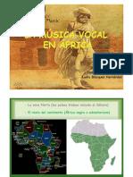 POWERPOINT  MÚSICA VOCAL EN ÁFRICA