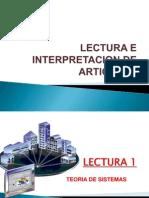 Lectura e Interpretacion de Articulos