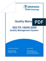 Quality Manual ISO TS 16949 2009