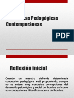 Tendencias Pedagógicas Contemporáneas