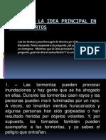 EL TEMA Y LA IDEA PRINCIPAL EN TEXTOS n° 2