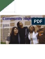 Community High School Postcard