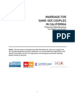 Marriage for Same-Sex Couples in CA FAQ