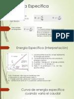 Energía Especifica