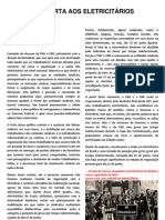 Carta Aberta Aos Eletricitarios Do Brasil