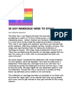 IS GAY MARRIAGE HERE TO STAY?