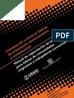 Manual para líderes de comunidades migrantes y trabajadores comunitarios