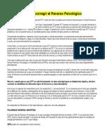 Identificar y corregir el Revés psic con EFT