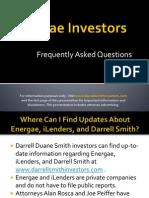 Darrell Duane Smith investors in Energae Holdings or iLenders