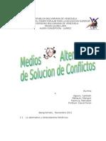 Medios Alternativos de Solucion de Conflictos # 1