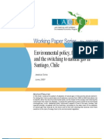Environmental Policy, Fuel Prices and the Switching to Natural Gas in Santiago, Chile.2007