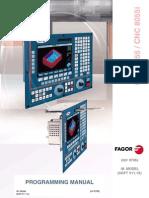 Manual Fagor 8055