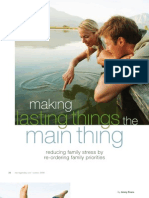 Making Lasting Things the Main Thing