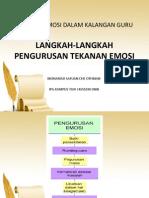 Langkah-langkah Pengurusan Tekanan Emosi
