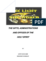 The Gifts, Operations & Administrations of the Holy Spirit