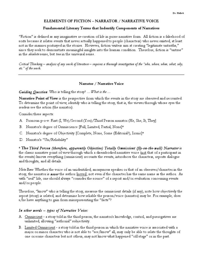 ElementsofFiction6-4-10 | Narration | Narrative
