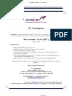 Recruitment Staff (REC) - PT Combiphar