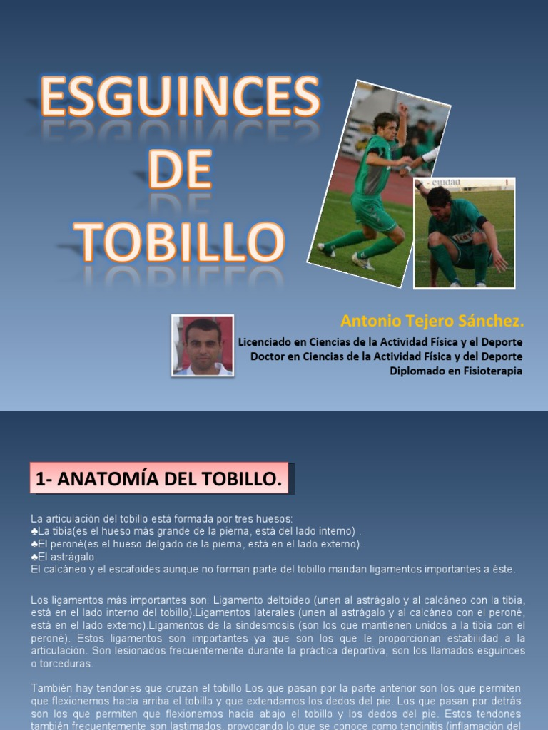 Esguinces de Tobillo