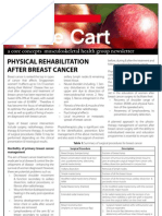 Physical Rehabilitation After Breast Cancer