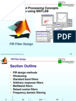 FIR Filter Design Using Matlab