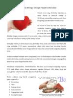 Niacin (Vitamin B3) Dapat Mencegah Penyakit Kardiovaskular