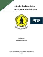 Penyebaran Ascaris Lumbricoides Dan Pengobatannya