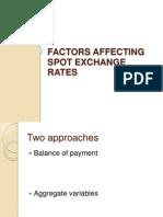 Factors Affecting Spot Exchange Rates
