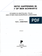 Bomhard - The Prehistoric Development of the Athematic Verbal Endings in PIE