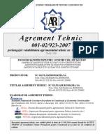 Agrement Tehnic Panouri Termoizolante (Bicau)