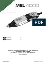 Manual Dremel 4000