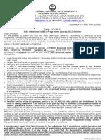 Adm Offer ltr B.Ed.2013