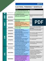 Calendario Elecciones 2011