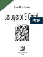 GROMPONE, JUAN - Las Leyes de 'El Capital' [Por Ganz1912]