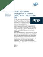 Intel® Advanced Encryption Standard (Intel® AES-NI) New Instructions Set