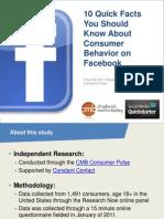 Consumer Behavior and Facebook