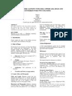 Guidelines for Full Length Paper