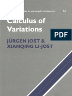 Calculus of the Variations