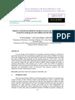 Design and Development of Rectangular Microstrip
