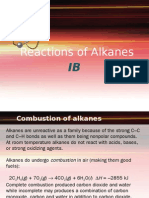 Alkanes Reactions